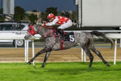 ALMAHROOSA BREAKS HER MAIDEN IN ABU DHABI ON 10/01/2021