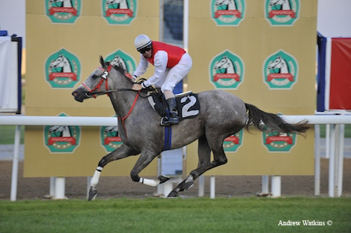 Anood Al Ghaid wins the first Arabian race