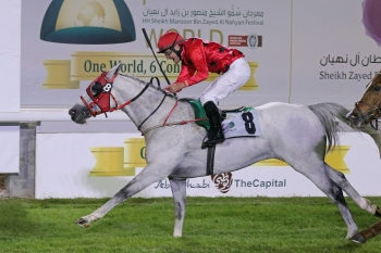 RB BURN Wins the World's Richest Purebred Arabian Race the JEWEL CROWN